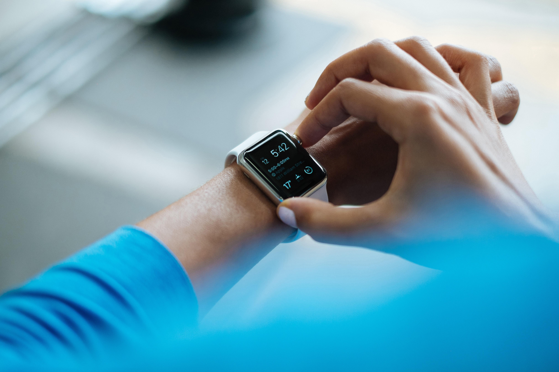 checking smart watch