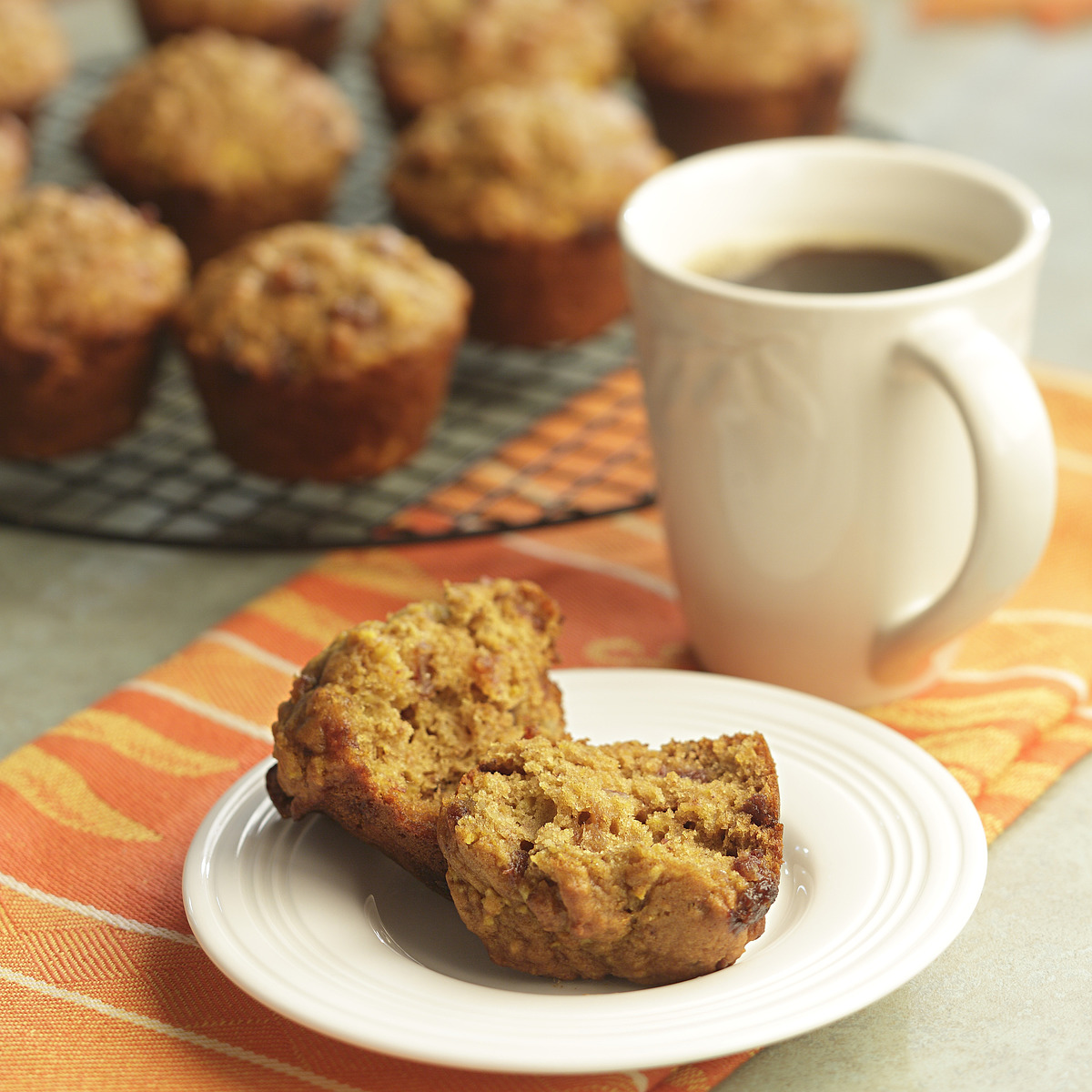Orange-Date Pumpkin Muffins