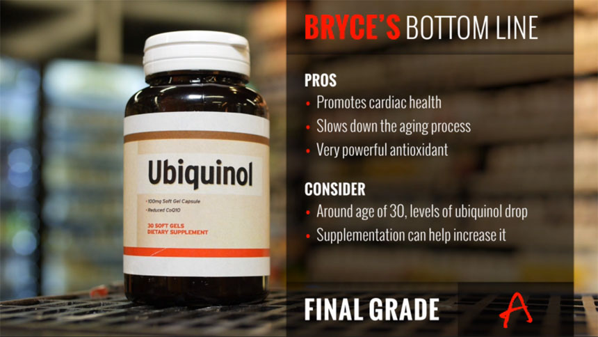 Bryce Wylde from The Dr. Oz Show Scores Ubiquinol an A